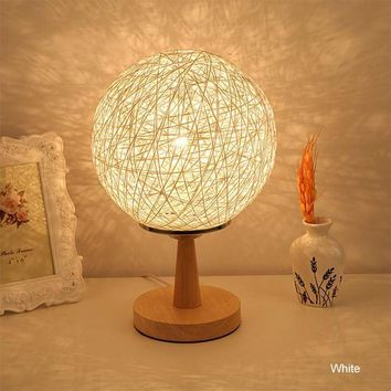 Portable Modern Art LED Night Stand With Ball Lamp