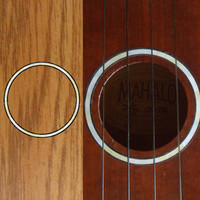 Ukulele Rosette (White Pearl) Purflinng Sound hole Inlay Sticker Decal