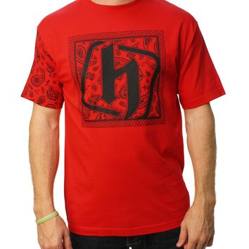 Hostility Men's JS Bandana Graphic TWITCH T-Shirt