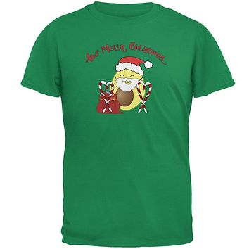 Avo Have A Merry Christmas Avocado Cute Funny Pun Mens T Shirt