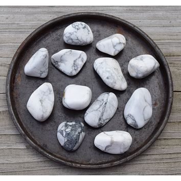HOWLITE Crystal, Calming White Buffalo Stone, Crown Chakra Crystal