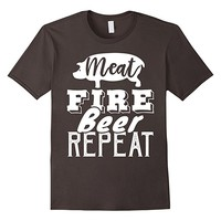 Meat Fire Beer Repeat Barbeque T-Shirt