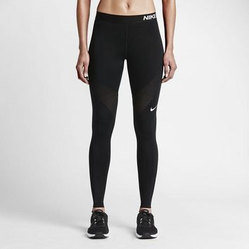 Fashion Online Nike Pro Running Power Epic Lx Leggings With Mesh Panels