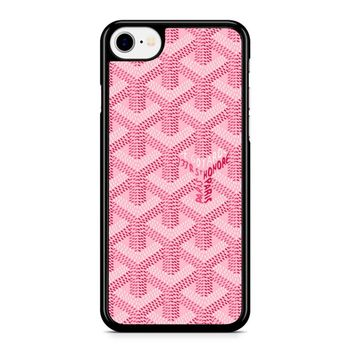 Goyard Pink Iphone 8 Case