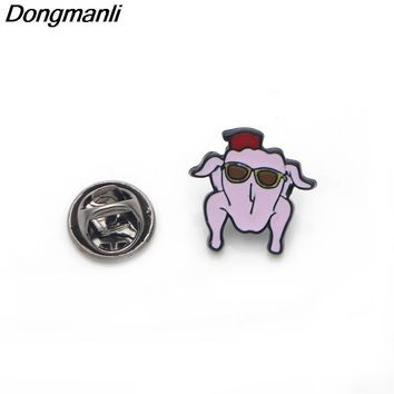 M1229 Dongmanli 2018 Newest High Quality TV Show Friends Pin Pickle Pins Brooch Badges For Clothing Enamel Pin Badges Gifts