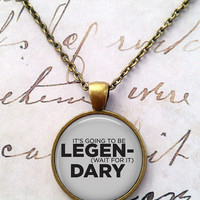 Legendary Necklace, How I Met Your Mother, Barney Stinson, Bro Pendant T717