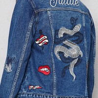 PacSun Embroidered Patched Denim Trucker Jacket at PacSun.com