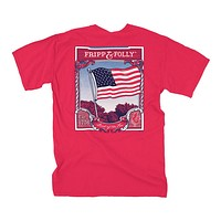 USA Flag Tee in Red by Fripp & Folly