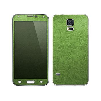 The Grungy Green Surface Skin For the Samsung Galaxy S5