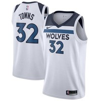Karl-Anthony Towns Minnesota Timberwolves # 32 Nike White Swingman Association Edition Jersey - Best Deal Online