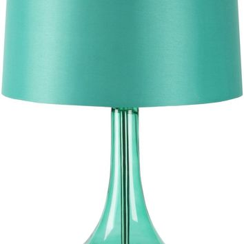 Zoey Modern Table Lamp Transparent Teal Teal