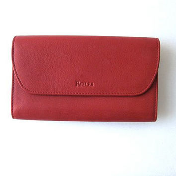 red leather wallet. Rolfs wallet.