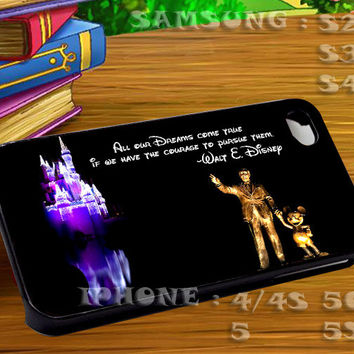 Disney Quote All Our Dreams For iphone 4 iphone 5 samsung galaxy s4 / s3 / s2 Case Or Cover Phone.