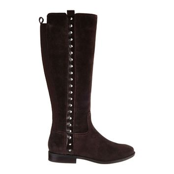 Marc Fisher Alto Suede Tall Shaft Boots w/ Studs