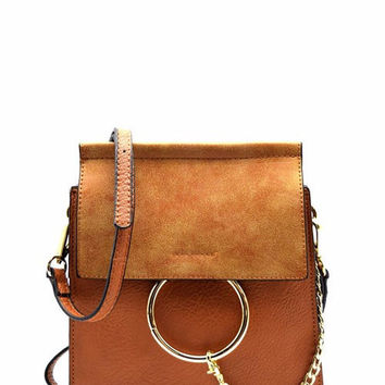Brown Ring Cross Body Bag