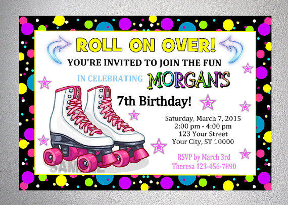 Rollerskating Party Invitation Printable from DPIexpressions on