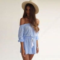 Off-Shoulder Summer Dress