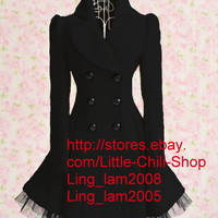 Cute Kawaii Princess Sweet Women Lolita Slim Lace Cake Jacket Dress 2 colors