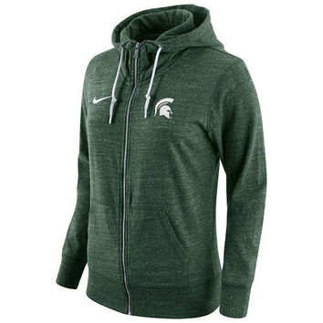 NCAA Michigan State Spartans Womens Gym Vintage Hoodie