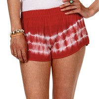 Sale-red/ Ivory Tie Dye Jogger Shorts