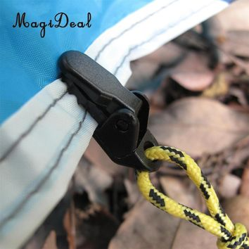 MagiDeal Outdoor 10Pcs Awning Clamp Tarp Clips Snap Hangers Tent Camping Survival Tighten Tool Camp Supplies for Camping Tent