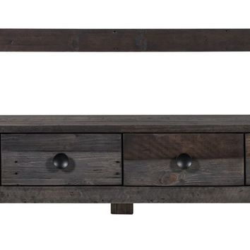 Vintage Tv Table Recycled Pine Wood
