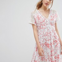 Suncoo Printed Mini Dress at asos.com