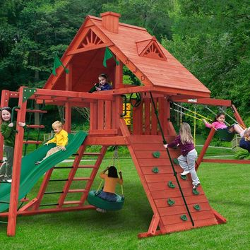 Gorilla Playsets Sun Palace II Wooden Swing Set
