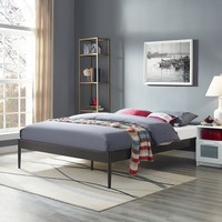 Elsie Fabric Bed Frame in Brown | Overstock.com Shopping - The Best Deals on Kids' Beds
