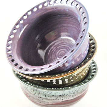 Earring holder, Earring bowl, Jewelry Bowl, organizer 3 colors to choose from - In stock