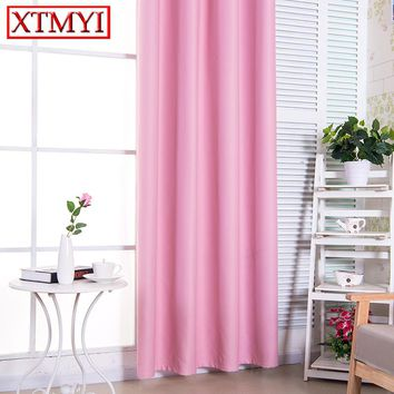 Pure pink children Blackout Curtains for Living Room Bedroom Window Door Kitchen Home Decorative Curtains Drapes