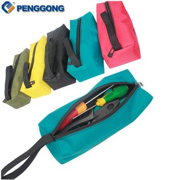 1Pcs Storage Tools Bag Utility Bag Oxford Canvas Waterproof Multifunctional For Small Metal Parts With Carrying Handles