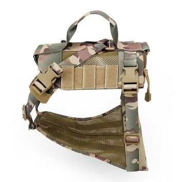 Tactical military Breathable dog clothes harness adjustable size Training Hunting Molle Dog Vest Harness