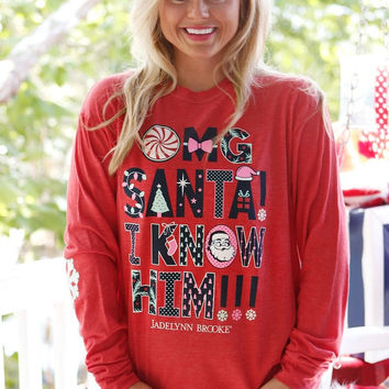 Jadelynn Brooke: OMG Santa! I Know Him! Long Sleeve Tee {Red Heather}