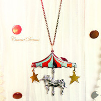 Carousel dreams  Whimsical dreamy silver unicorn by SixAstray