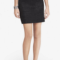 Metallic Elastic Stripe Mini Skirt from EXPRESS