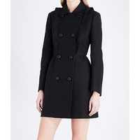 RED VALENTINO - Double-breasted woven coat   Selfridges.com