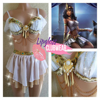 Classy Egyptian Princess Costume High waist Skirt for Halloween, EDC , Tomorrowland, and mustic Festivals