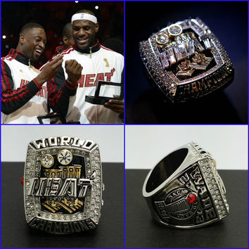(FREE SHIPPING) MIAMI HEAT 2013 CHAMPIONSHIP RING / 3-RING SET DYWANE JAMES