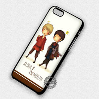Cute Characters Merlin and Arthur - iPhone 7 6 5 SE Cases & Covers