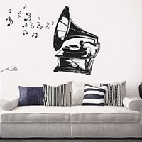 Wall Decal Vinyl Sticker Decals Art Decor Design Bedroom Nursery Vynil Song Vintage Music Notes Music is life Kids Bedroom Dorm Home (r1411)