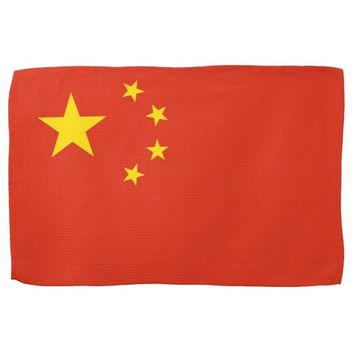 Kitchen towel with Flag of China