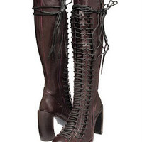 Ann Demeulemeester Triple Lace Boots