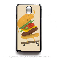 Burger Wipe-out Samsung Note 3 Case, Samsung Cases