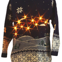 1980's Classic Elements Unisex Ugly Lightup Christmas Sweater