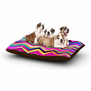 "Dawid Roc ""Colorful Chevron"" Purple Pink Dog Bed"