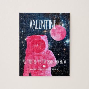 Valentine, you take me to the moon and back jigsaw puzzle