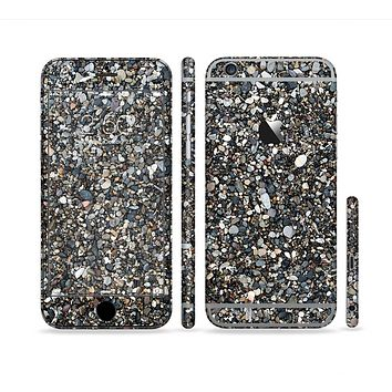 The Small Dark Pebbles Sectioned Skin Series for the Apple iPhone 6 Plus