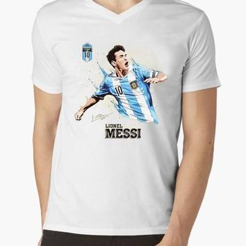 Messi V-Neck T-shirt