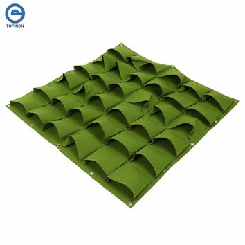36 72 Pocket Wall Vertical Vegetable Garden Flower Hanging Felt Planter Strawberry Growing Bags For Garden Seedling Bag